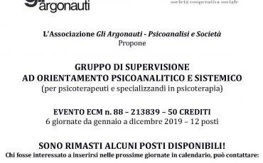 GRUPPO DI SUPERVISIONE CLINICA AD ORIENTAMENO PSICOANALITICO E SISTEMICO